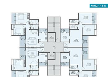 Wing F & G: Odd & Even Floor Plan