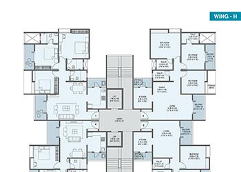 Wing H Odd Floor Plan