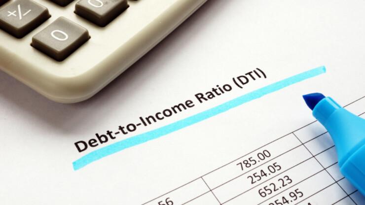Debt to income ratio - DTI ratio