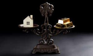 Comparing real estate investment with gold